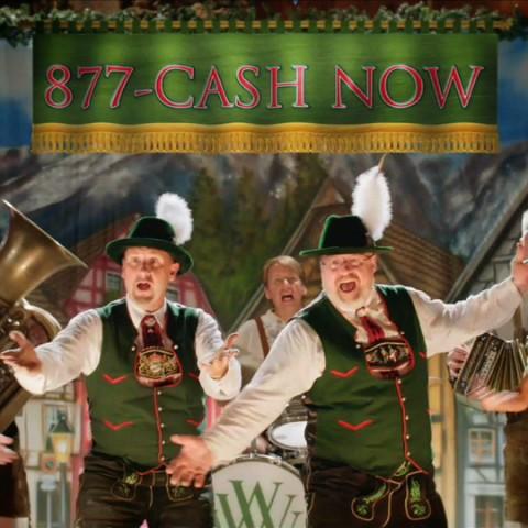 877-Cash-Now TV. Beer Hall