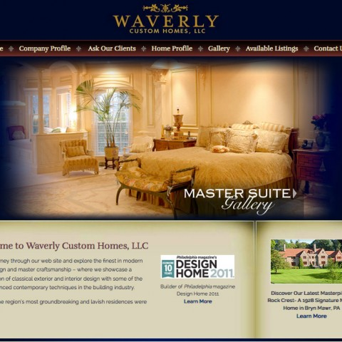 Waverly Homes Website